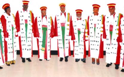 Les membres de la Cour constitutionnelle de la République du Congo
