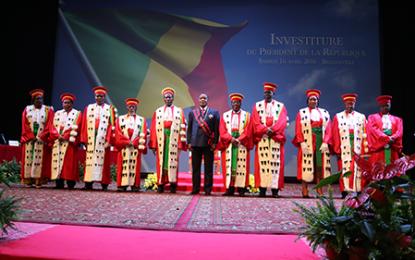 Cérémonie de prestation de serment du président de la République élu lors du scrutin du 20 mars 2016